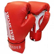Перчатки боксерские LEADER 8 унций красные