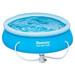 Бассейн с надувным бортом Bestway Fast Set 57268 244х66 см