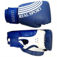 Перчатки боксерские LEADER 12 унций (синие)