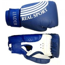 Перчатки боксерские LEADER 6 унций (синие)