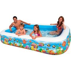 Надувной бассейн Intex Swim Center 58485 Tropical Reef (305x183x56 см)