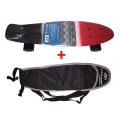 Скейтборд пластиковый Tricolor 22