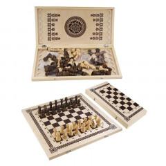 Набор настольных игр 3 в 1 (шашки, шахматы, нарды) арт.B-7