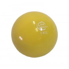 Медбол Lite Weights 1701LW 1кг (желтый)