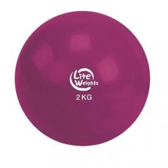 Медбол Lite Weights 1702LW 2 кг (вишня)