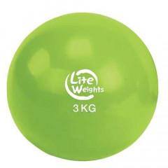 Медбол Lite Weights 1703LW 3 кг (салатовый)