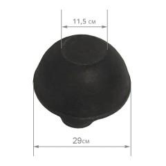 Казан чугунный 4,5 л с крышкой (плоское дно)