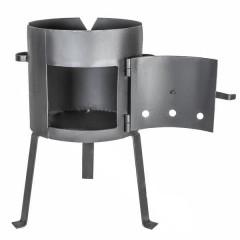 Печь для казана с дверцей усиленная на 200-225 литров