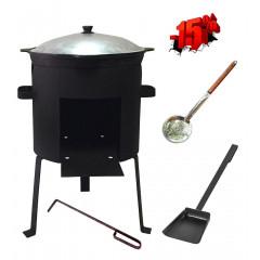 Комплект казан 10 л + ус. печь + аксессуары