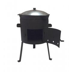 Комплект казан 22 л + ус. печь с дверцей + аксессуары