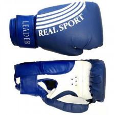 Перчатки боксерские LEADER 4 унций синий