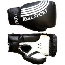 Перчатки боксерские LEADER 4 унций черный