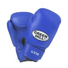 Перчатки боксерские Green Hill GYM BGG-2018 10 унций кожа синие
