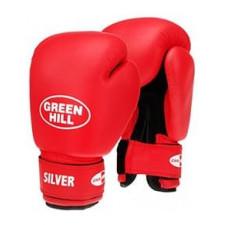 Перчатки боксерские Green Hill SILVER BGS-2039 14 унций к/з красный