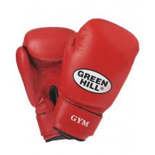 Перчатки боксерские Green Hill GYM BGG-2018 8 унций кожа красные