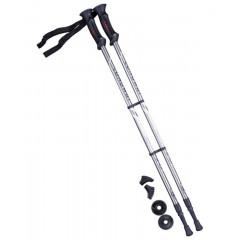 Палки для скандинавской ходьбы Berger Longway 77-135 см 2-секционные, серый/чёрный