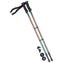 Палки для скандинавской ходьбы Berger Longway 77-135 см 2-секционные, тёмно-зеленый/оранжевый