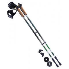 Палки для скандинавской ходьбы Berger Starfall 77-135 см 2-секционные, чёрный/белый/ярко-з