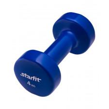 Гантель виниловая StarFit DB-101 4 кг темно-синяя