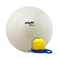 Мяч гимнастический STARFIT GB-102 с насосом 85 см антивзрыв, белый