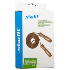 Скакалка StarFit RP-201 3 метра, кожаная с деревянной ручкой