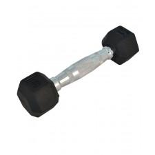Гантель обрезиненная StarFit DB-301 1 кг черная