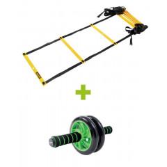 Комплект для фитнеса StarFit FA-107 (координационная лестница+ролик)
