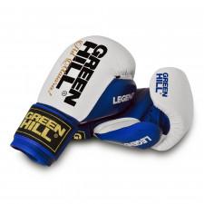 Перчатки боксерские Green Hill Legend BGL-2246 10 унций кожа сине-белые