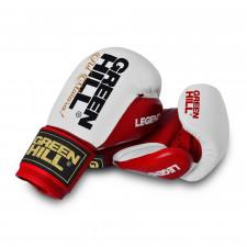 Перчатки боксерские Green Hill Legend BGL-2246 10 унций кожа красно-белые