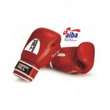 Перчатки боксерские Green Hill Super Star BGS-1213a 10 унций кожа красные