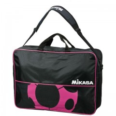 Сумка на 6 футбольных мячей MIKASA FS6C-BKP черно-розовый