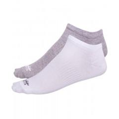 Носки низкие StarFit SW-205 р.39-42 2 пары белый/светло-серый меланж