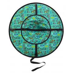 Надувные санки (тюбинг) серия Дизайн с молнией 105 см ВСД/3М