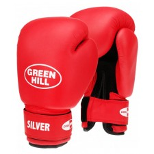 Перчатки боксерские Green Hill Silver BGS-2039 12 унций красный