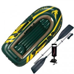 Лодка надувная трёхместная Intex 68380NP Seahawk 3 Set