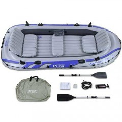 Пятиместная надувная лодка Intex 68325NP Excursion-5 Set