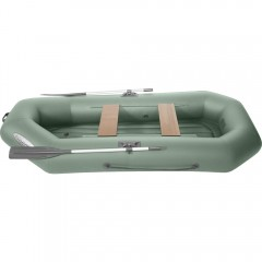 Лодка гребная ПВХ Лоцман С-260 ВНД Зеленый