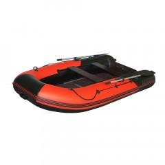 Лодка моторно-гребная ПВХ Лоцман М-350 (киль) Красный/Черный