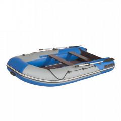 Лодка моторно-гребная ПВХ Лоцман М-350 (киль) светло-серый/темно-синий