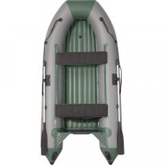 Лодка моторно-гребная ПВХ Пилот М300 НДНД Серый/зеленый