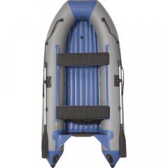 Лодка моторно-гребная ПВХ Пилот М-320 НД НД Серый/синий