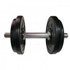 Гантель разборная обрезиненная СпортКом 12 кг.
