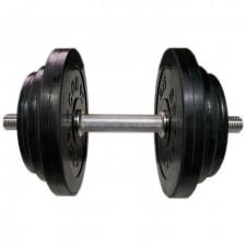 Гантель разборная обрезиненная СпортКом 19,5 кг.