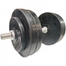 Гантель разборная обрезиненная СпортКом 24,5 кг.