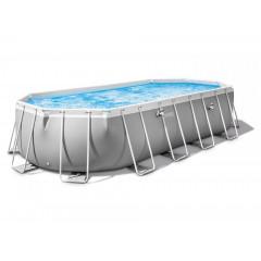 Овальный каркасный бассейн Intex 26796 Prism Frame Oval (503х274х122см)