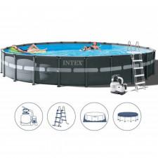Круглый каркасный бассейн Intex 26340 Ultra XTR Frame (732х132см)