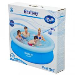 Бассейн с надувным бортом Bestway 57252 (198х51см)