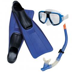 Набор для плавания Intex 55957 Reef Rider Sports Set (ласты (размер 38-40), маска и трубка) 9+