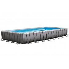 Каркасный бассейн Intex 26374 Rectangular Ultra Frame Pool (975х488х132см) + аксессуары