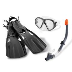 Набор для плаванья Intex 55657 Reef Rider Sports Set (ласты (размер 41-45), маска и трубка) 14+